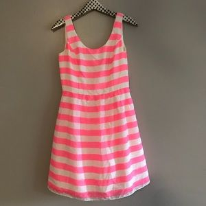 Lilly Pulitzer Pink and White Striped Posey Dress